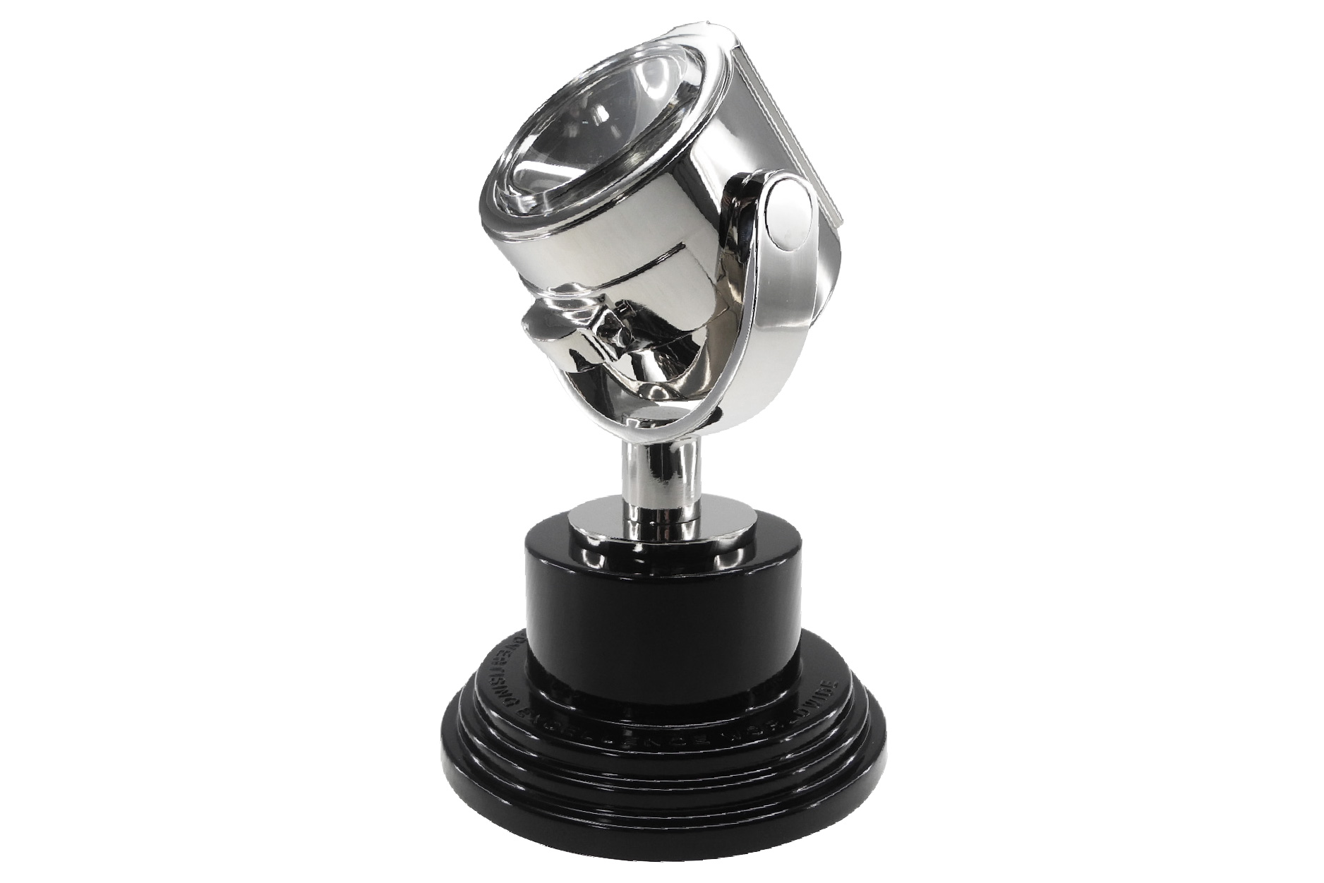 Realistic searchlight trophy form designed by Society Awards