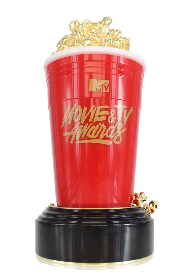 Special Edition Custom Award Formed in Machined Double Cast Lucite with Logo Embedment and Cast Metal Popcorn.
