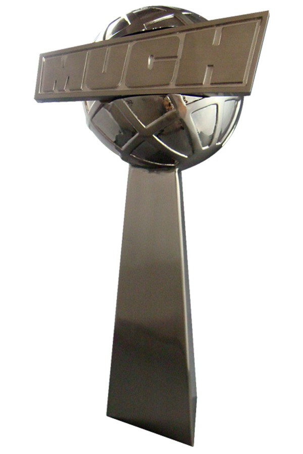 MuchMusic award crafted in zinc using our custom casting and plating methods
