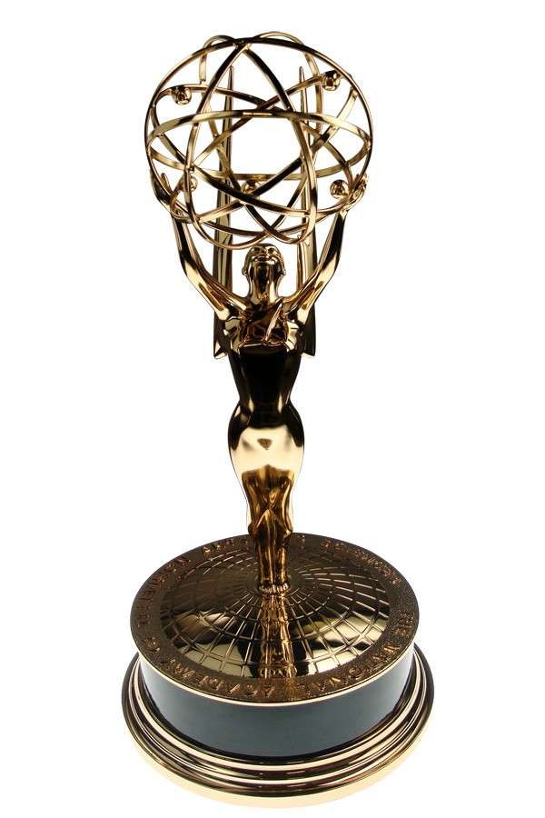 Front view of the world's most famous and prestigious award for television.