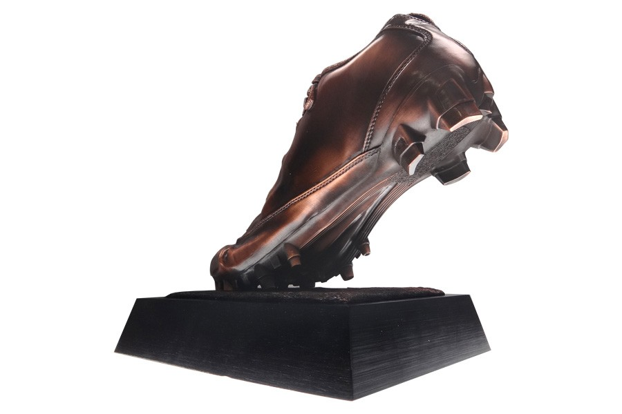A realistic cleet running shoe award crafted by Society Awards for the NFL Players Association.