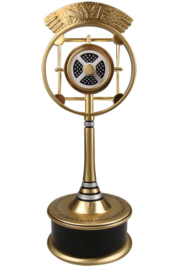 Vintage radio trophy designed trophy for a famous festival.