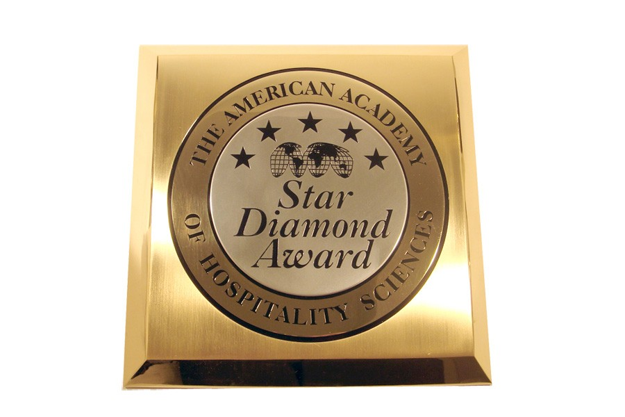 Star Diamond Award plaque for Hospitality Sciences