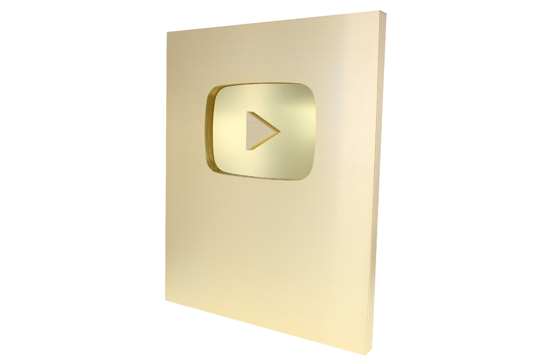 Youtube Creator Award Gold Plaque