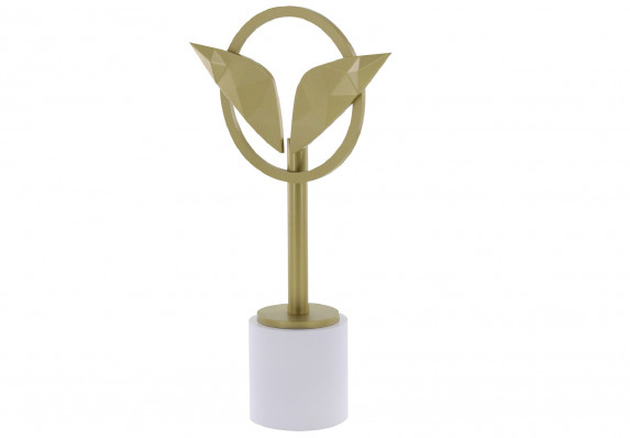 Gold Leaves Trophy on Marble Base