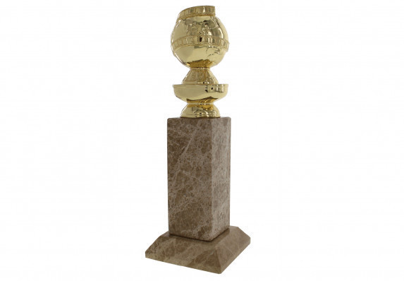 World Famous Entertainment Award - the Golden Globe Award Trophy. A beautiful, custom Society Awards creation - a gold-plated metal casting mounted on custom, high-end marble base.