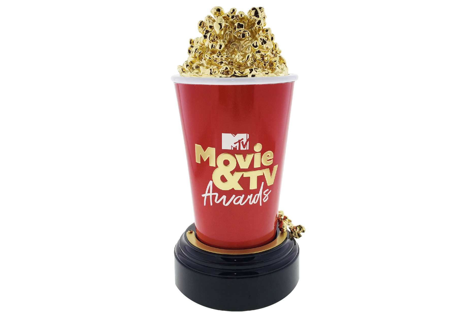 Gold and Red Popcorn Trophy