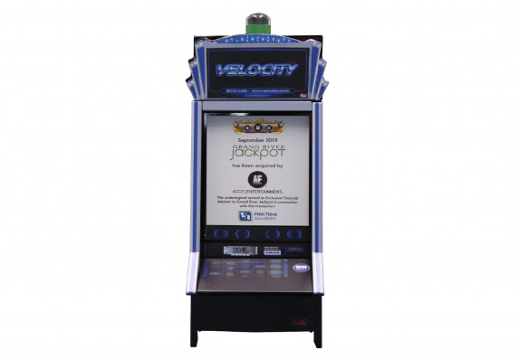 We Crafted This Premium Financial Tombstone for the Acquisition of an Entertainment Brand. The Deal Toy Incorporates the Financial Details into the Screen of a Realistic Model of the Company's Product, a Slot Machine.