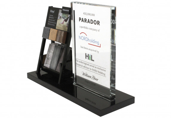 Deal toy created for a company acquisition. The design incorporates a mock up of the brand's retail display.