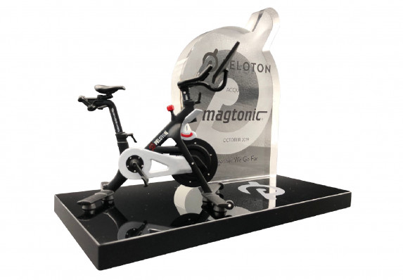 Modern Financial Tombstone Crafted by Society Awards Finance Group for an Acquisition by a Large and Prestigious Exercise Equipment, Classes and Technology Brand.