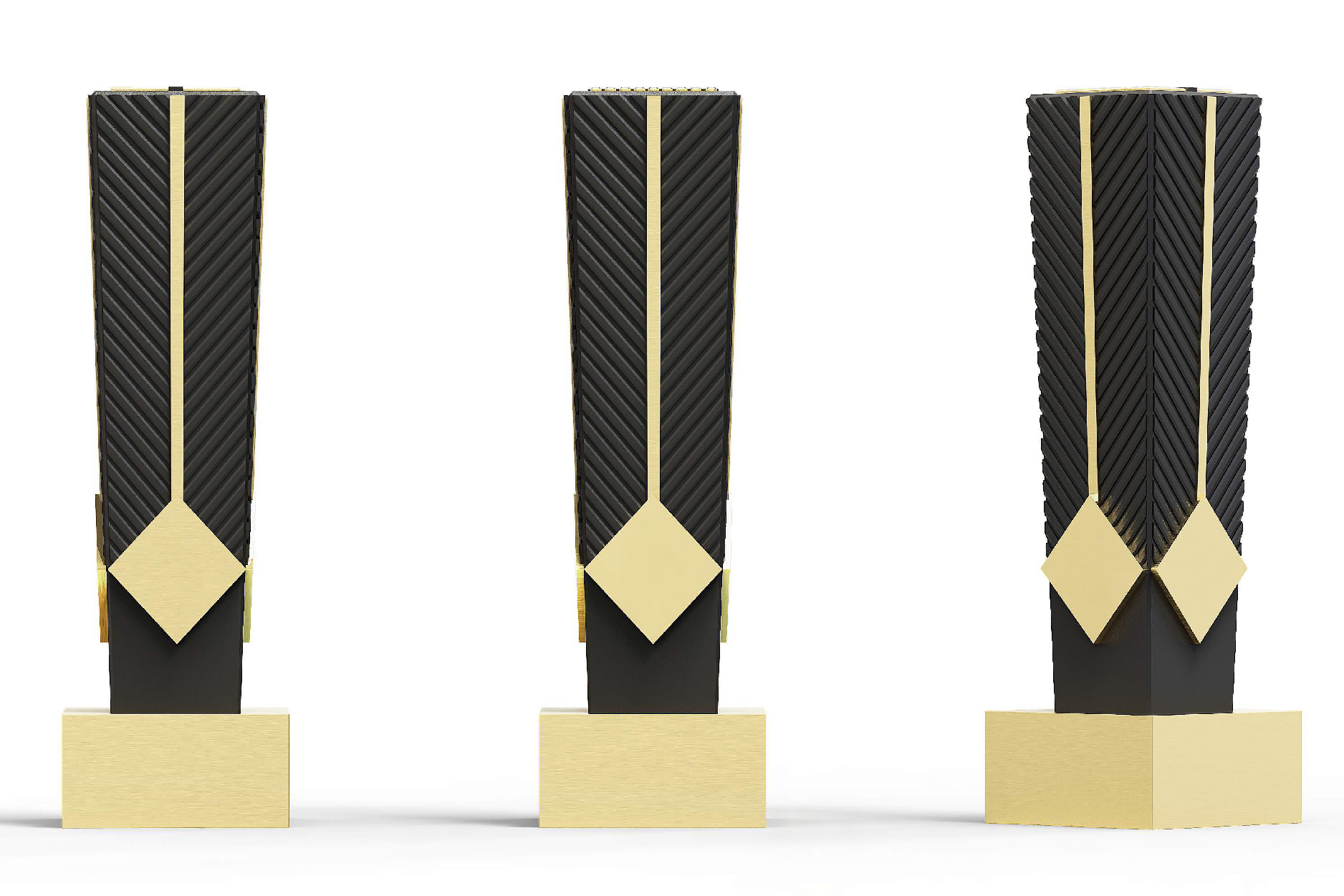 Black Tie Chevron Trophy
